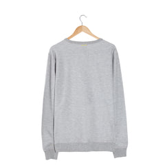TRACE Salt & Pepper grey sweatshirt back