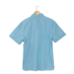 CANYON Lite Chambray Marl blue short sleeve shirt back