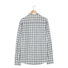 PURPOSE INDIGO Chalk Long Sleeve Check Shirt back