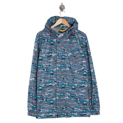WISDOM Waves Print Hooded Jacket