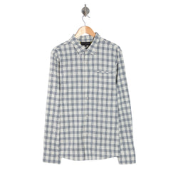PURPOSE INDIGO Chalk Long Sleeve Check Shirt