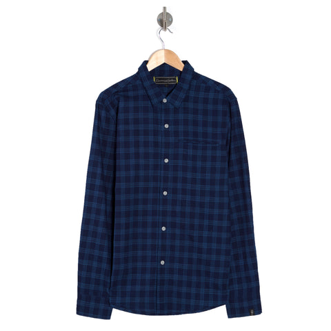 PURPOSE INDIGO Nocturnal Long Sleeve Check Shirt