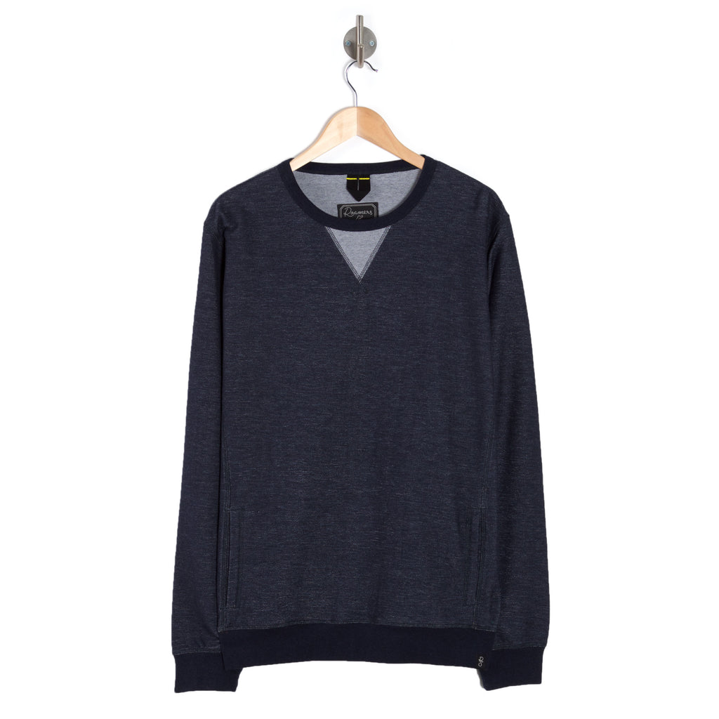 TRACE Deep Denim Marl sweatshirt