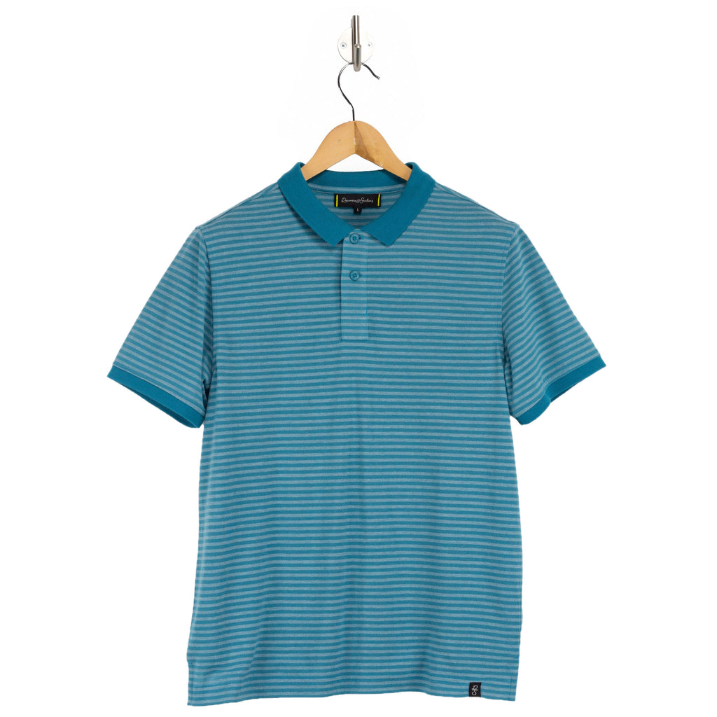 NATION Surf Stripe blue polo shirt