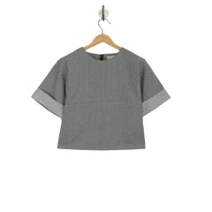 COLLINS Blackboard cropped blouse