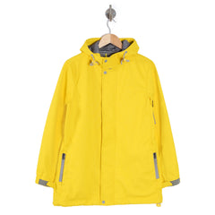 PRECIPITATE Signage Yellow womens hooded jacket