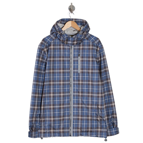 WANDERLUST PLUS Chambray Check Hooded Jacket