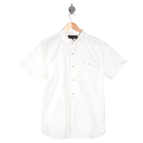 DIMENSION Optic white short sleeve shirt