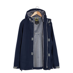 OUTDOORS Nocturnal Dark Blue Hooded Jacket open