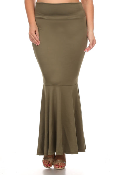Full length skirt with an a-line silhouette