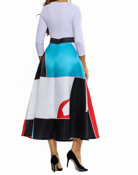 Multi Colorblock Skirt