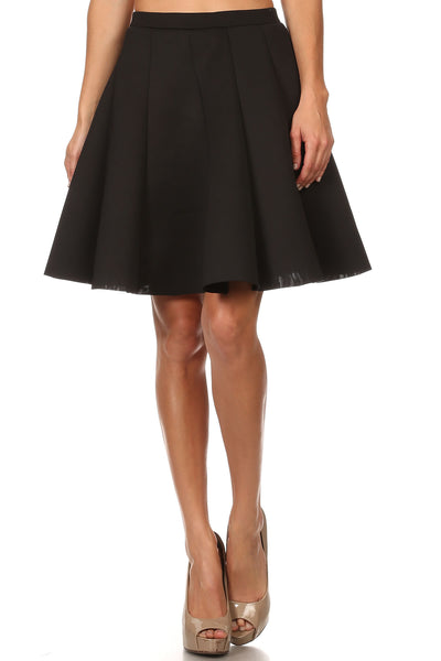 Mia Thigh Length Flared/ Pleated Skirt