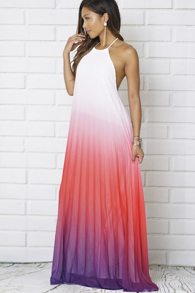 Valencia Halter Neck Maxi Dress