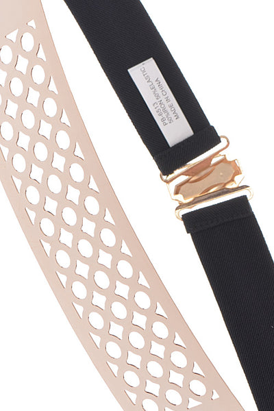 ircle Cutout Plate Elastic Belt