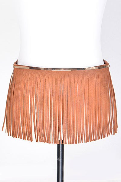 Elastic With Heavy Fringe Detailed Belt