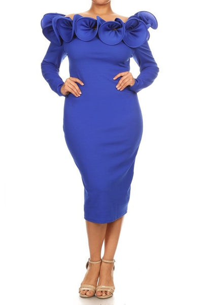 Solid Knit Sheath Dress