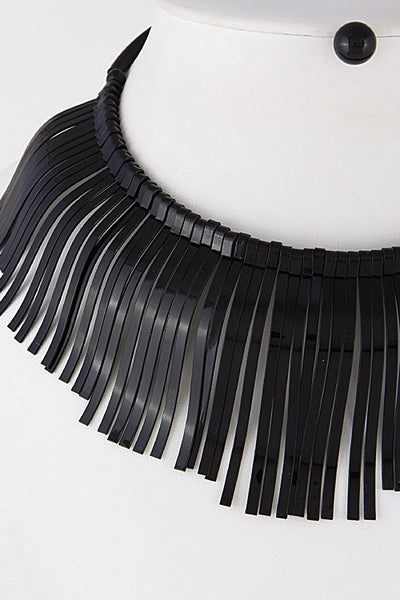 Trendy Fringed Choker Necklace