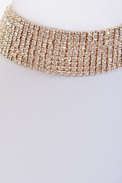 Sparkle Rhinestone Choker Necklace