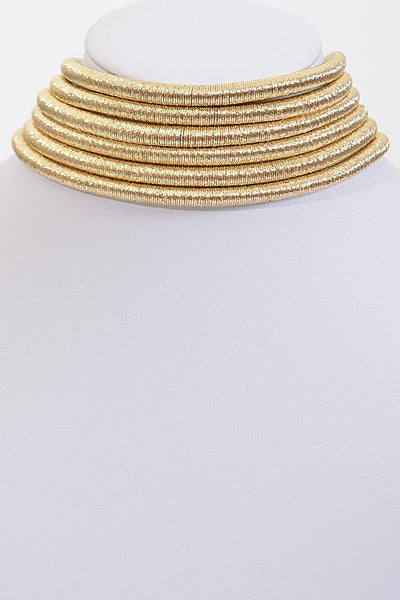 Multi Layer Shiny Choker Necklace