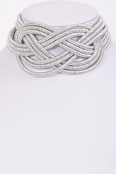Unique Design Shiny Choker Necklace