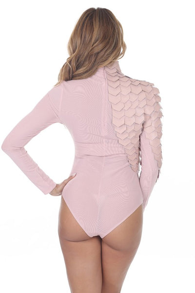 Elsie Long Sleeve Turtleneck With Faux Leather Bodysuit