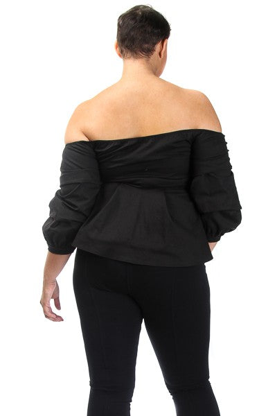 SWEETHEART OFF THE SHOULDER SCALLOPED TOP