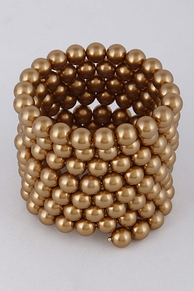 Faux Pearly Thick Bracelet