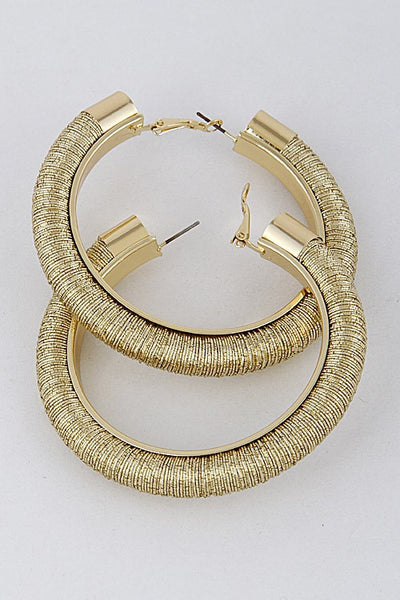 Thick Shiny Hoop Earrings