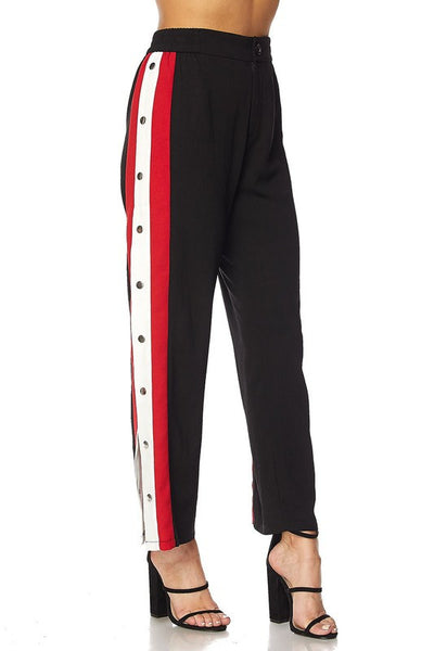 Kylie Button Down Side Track Pants
