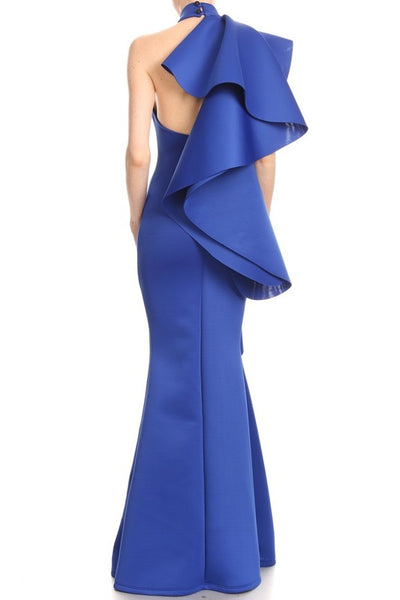 Sleeveless Maxi Dress In A Mermaid Silhouette With A Mock Neck