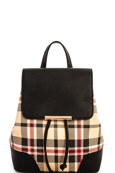 Alba Tartan 2in1 Modern Check Backpack