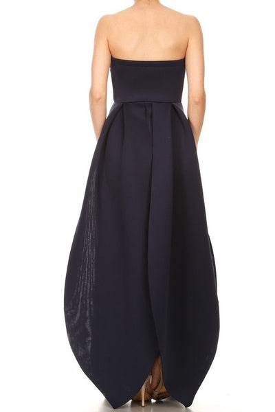Leezzel Sweetheart Strapless  Maxi Dress