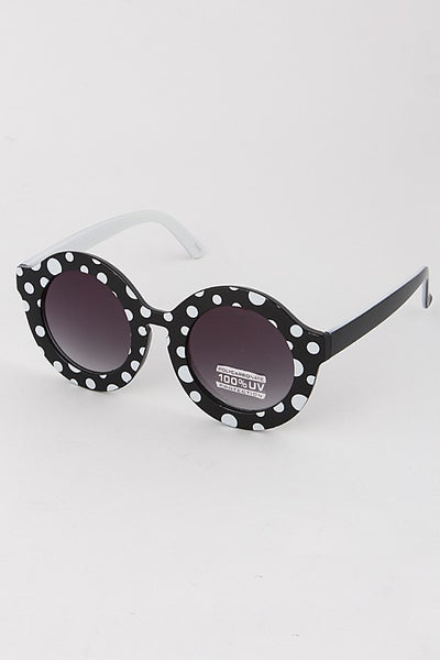 Very Chic Round Framed Sunglasses
