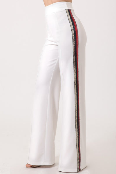 Letty Sequin Side Stripe Pants