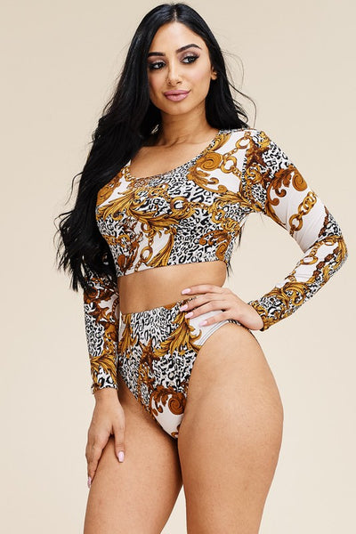 Zelly cropped top and panty two piece set