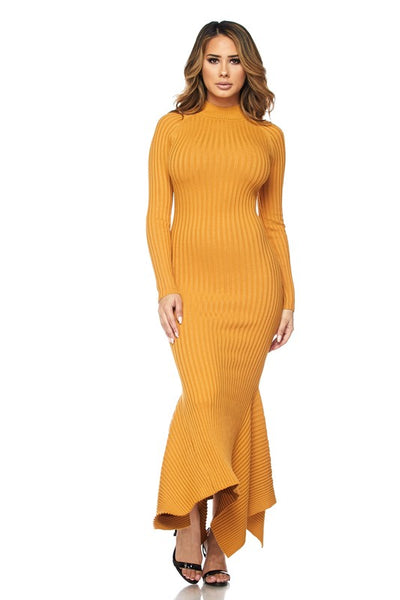 Remmy Mock Neck Mermaid Dress