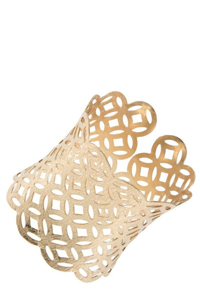 Overlapping Circles Cuff Bracelet