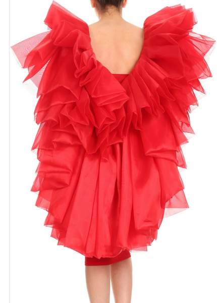 Makas Ruffle Tiered Layer Design Dress