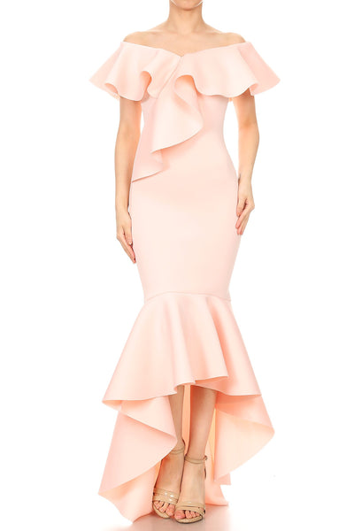 Jackie Off Shoulder Ruffle Dress