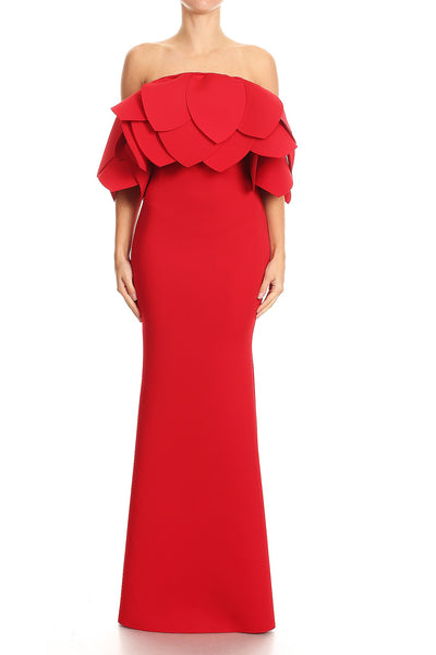 Janet Off The Shoulder Mermaid Maxi Dress