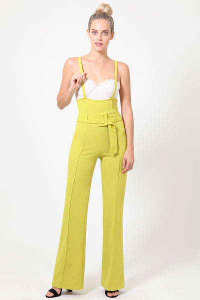 Kassie Overall With Belt Detail Pants