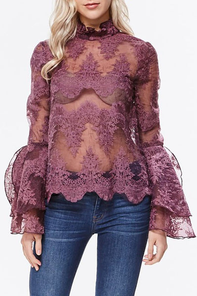 Soffia Flared Layered Sleeve Top