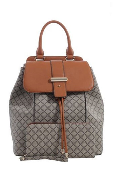 Textured faux-leather Backpack