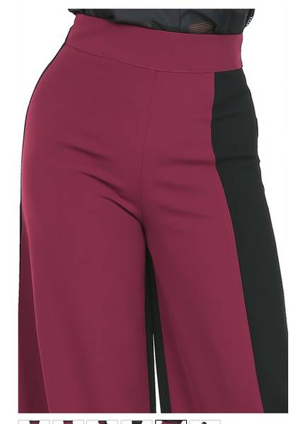 Muna Color Block Wide Leg Pants