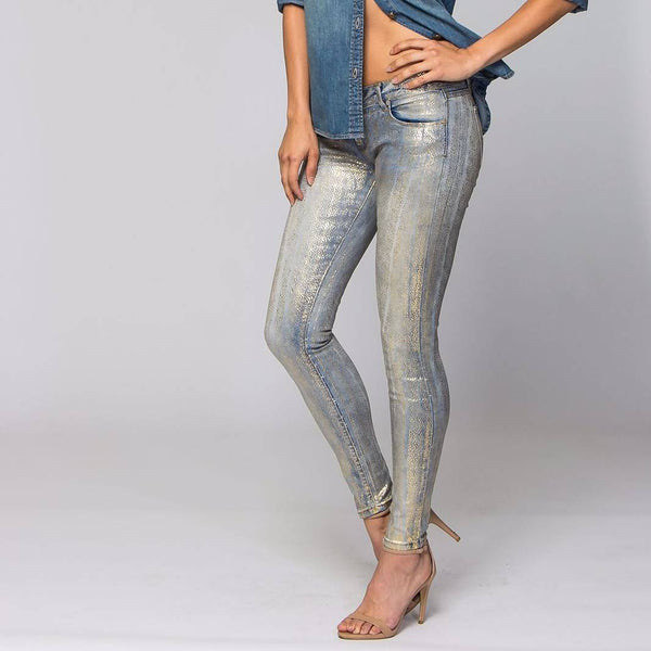 Mayo Gold Shimmer Skinny Jeans