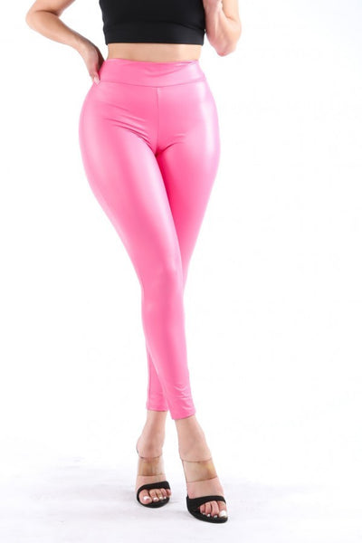 Kayla High Waist Faux Leather Leggings