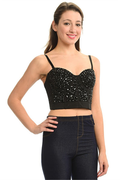 Maxine Rhinstone Crop Top
