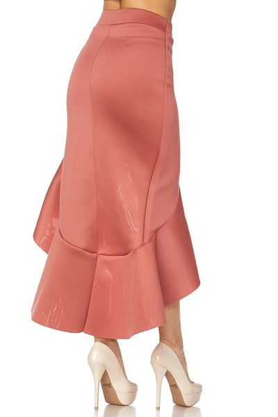 High- Low Ruffle Skirt
