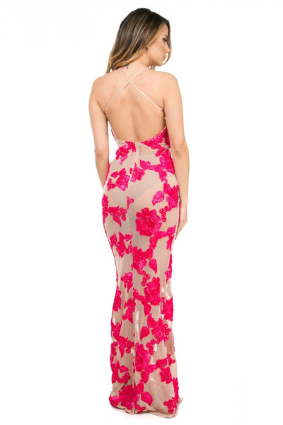 Shenna Ribboned strappy maxi dress