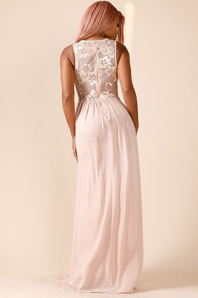 Tessy Embroidered Gown